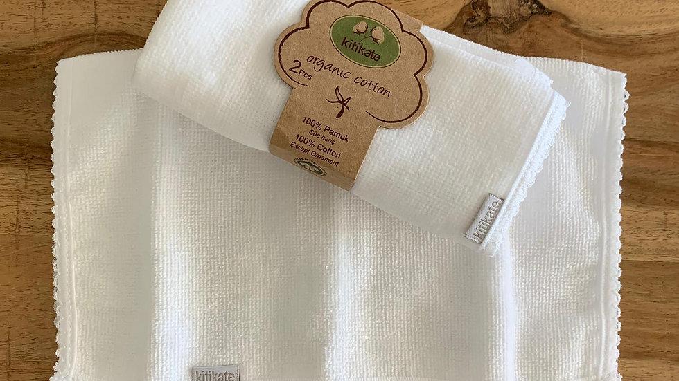 Hand Towel 2 Pcs - white