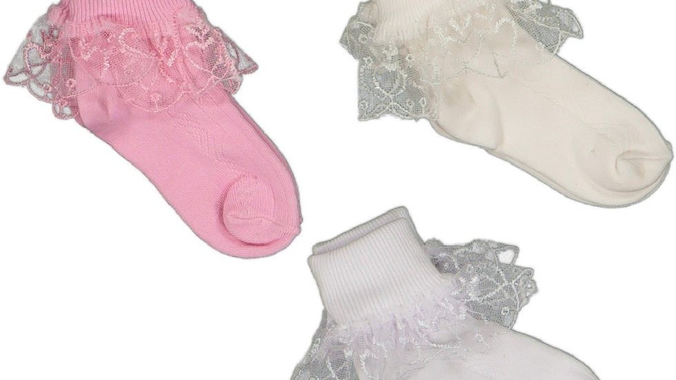 Socken mit Tüll