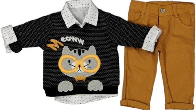 Pullover- Hemd- Hose / 3Pcs Set