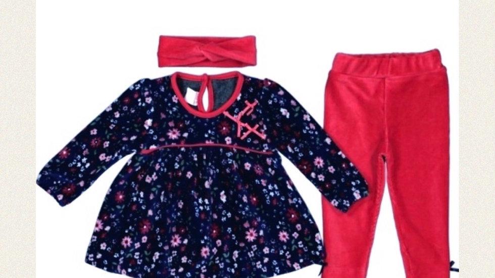 Kleidchen mit Leggins und Schleife