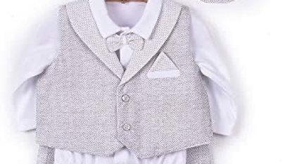 Babtism Boy - Grey - 3 Pcs - Set