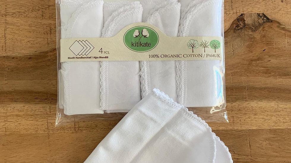 Mouth Handkerchief - Tücher 4 Pcs - white