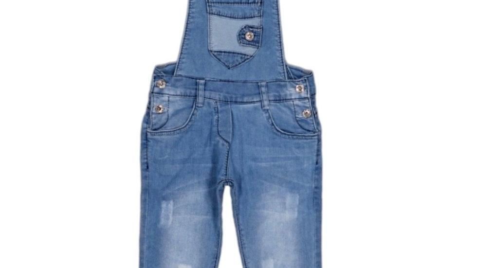 Jeans- Latzhose - blue