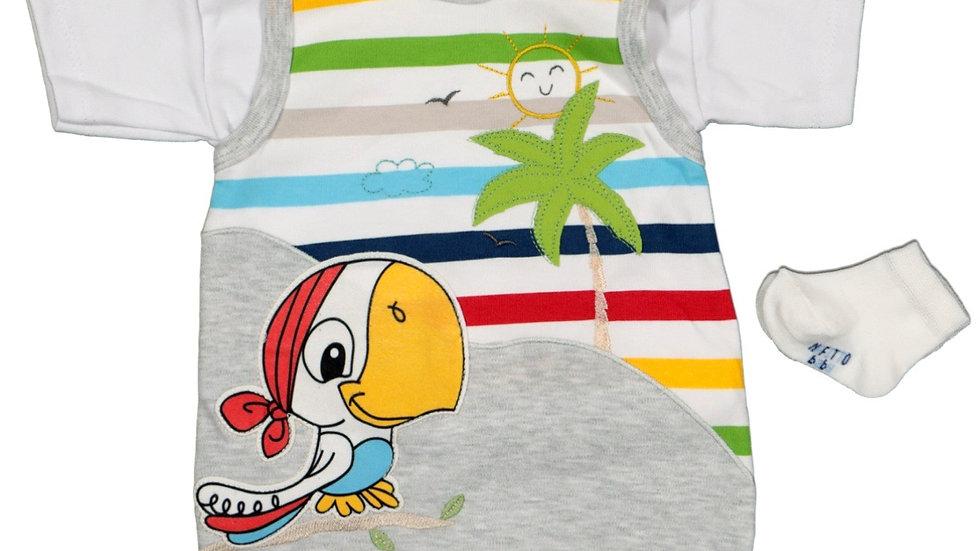 Baby Strampler mit T-Shirt und Söckchen
