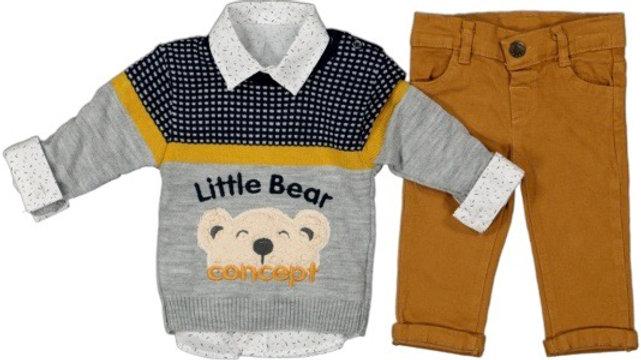Little Bear - 3 PCs- Set - Pullover , Hemd & Hose