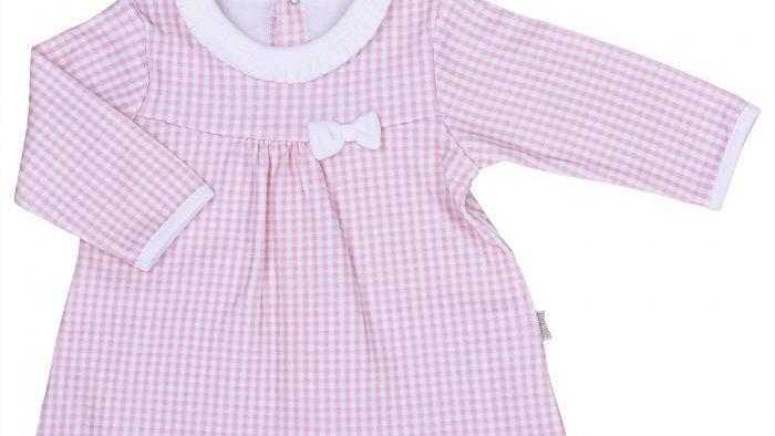 Kleid Pink mit Schleife