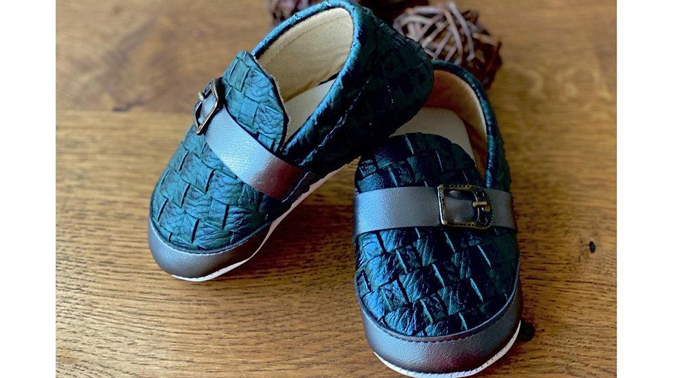 Baby Schuh mit soft Sohle- schwarz - grün