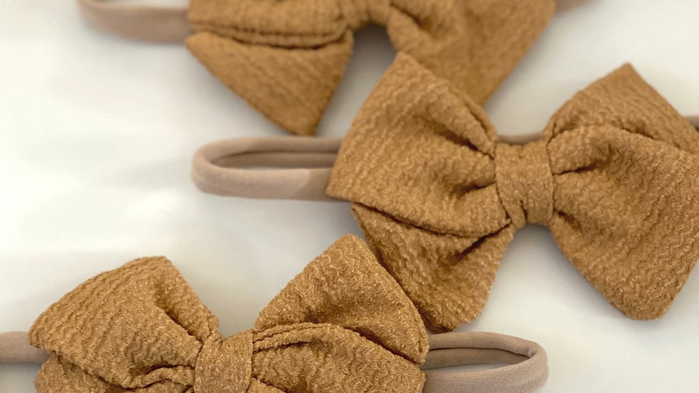 Haarbänder mit Schleife - braun