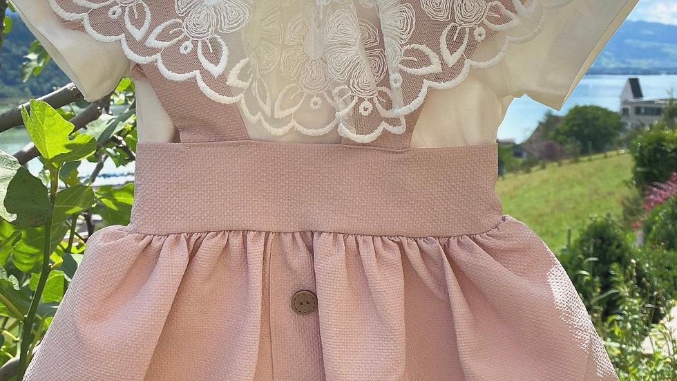 Kleidchen mit Träger und Tüll t-Shirt - rosa