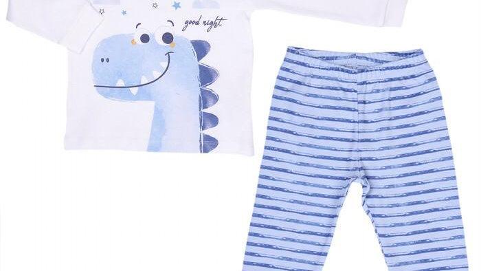 Good Night Pyjamas - ecru blue