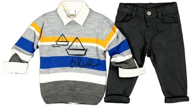 Pullover - Hemd - Hose / 3 Pcs Set