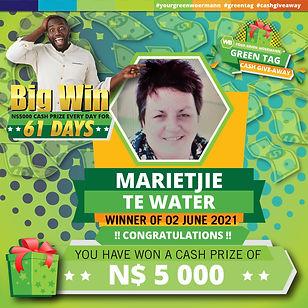 02 06 2021 Marietjie Te Water Green Tag Winner Announcement 5000-01.jpg