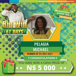 30 06  - 06 07 2021 Saarty Iambo Green Tag Winner Announcement 5000_Pelagia Michael.jpg
