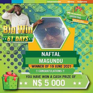 Green Tag 19 06 2021 NAFTAL  MANGUNDU 50