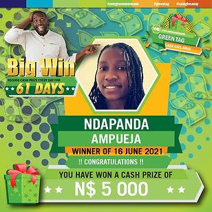 Green Tag 16 06 2021 NDAPANDA AMPUEJA 50