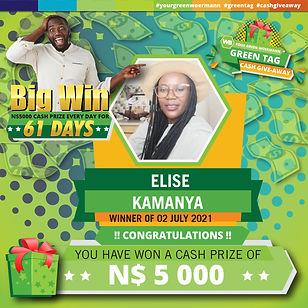 30 06  - 06 07 2021 Saarty Iambo Green Tag Winner Announcement 5000_Elise Kamanya.jpg
