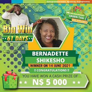 14 06 2021 Bernadette Shikesho Green Tag Winner Announcement-01.jpg