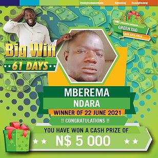 Green Tag 22 06 2021 MBEREMA NDARA. 5000
