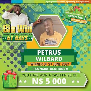 23 - 29 June 2021 Green Tag Winners Announcement Blocks 5000_Petrus Wilbard 27 June 2021.j