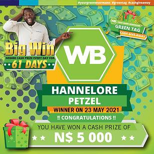 Green Tag Winner WEB BLOCK Announcement