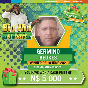 Green Tag 18 06 2021 GERMINO BEUKES 5000