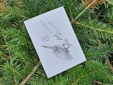 Foto Kuifmees ansichtkaart Mélisse print