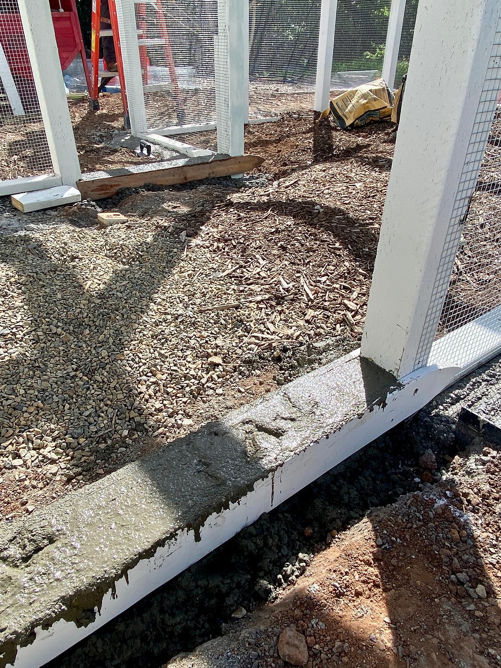 Rock Haven Farm chicken coop foundation design.