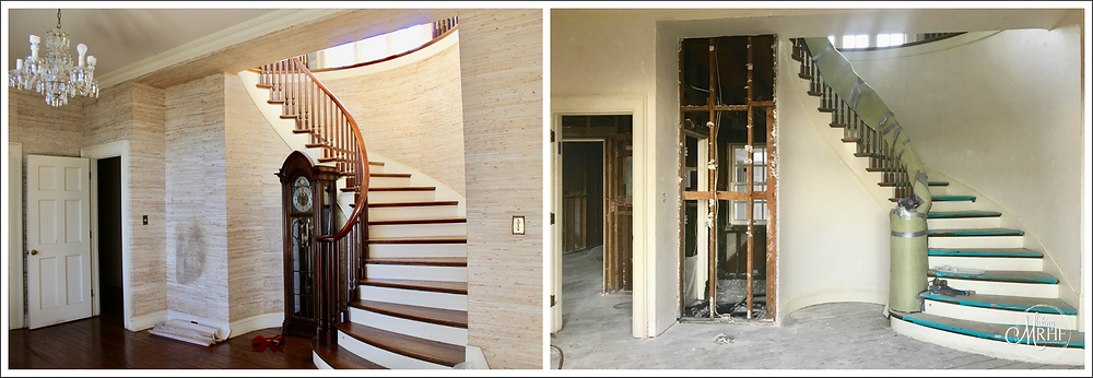 Rock Haven Farm foyer renovation progress
