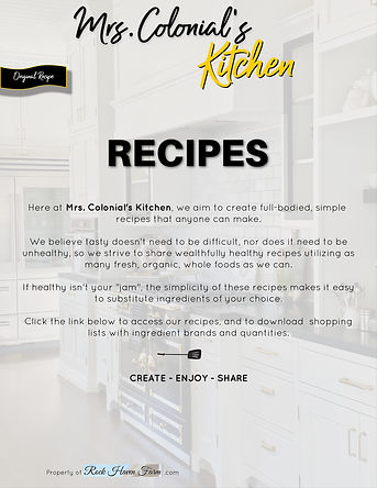 Mrs. Colonial's Kitchen web page graphic