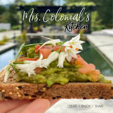 Avocado Toast w/Wild Onion Blossoms