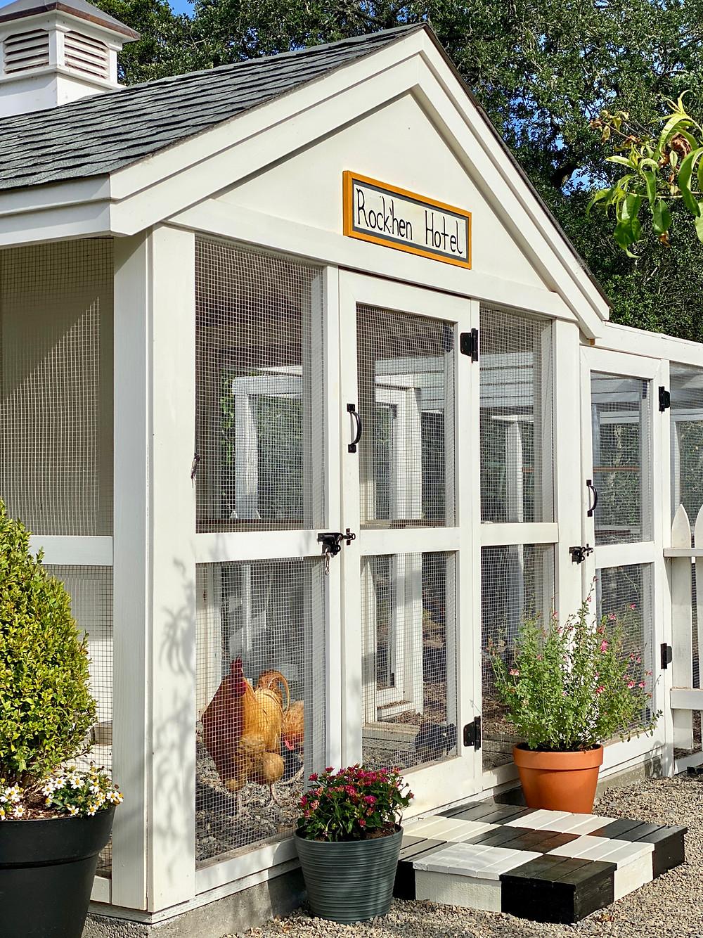 Best Chicken Coops, Chicken Coops, Chicken Coop Design, The Rock'hen Hotel chicken coop at Rock Haven Farm.