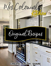 Mrs. Colonial's Kitchen wealthfully healthy original recipes.