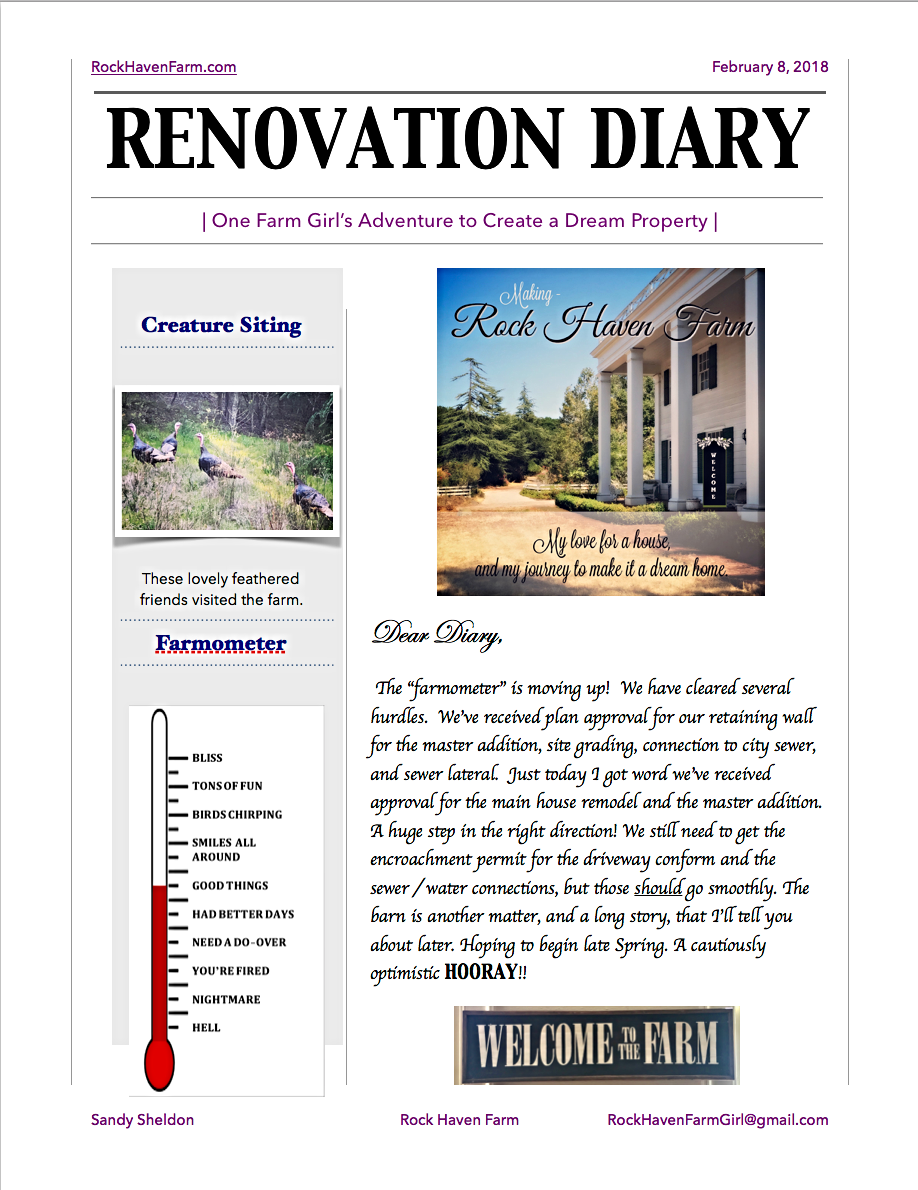 Rock Haven Farm Home Renovation Diary