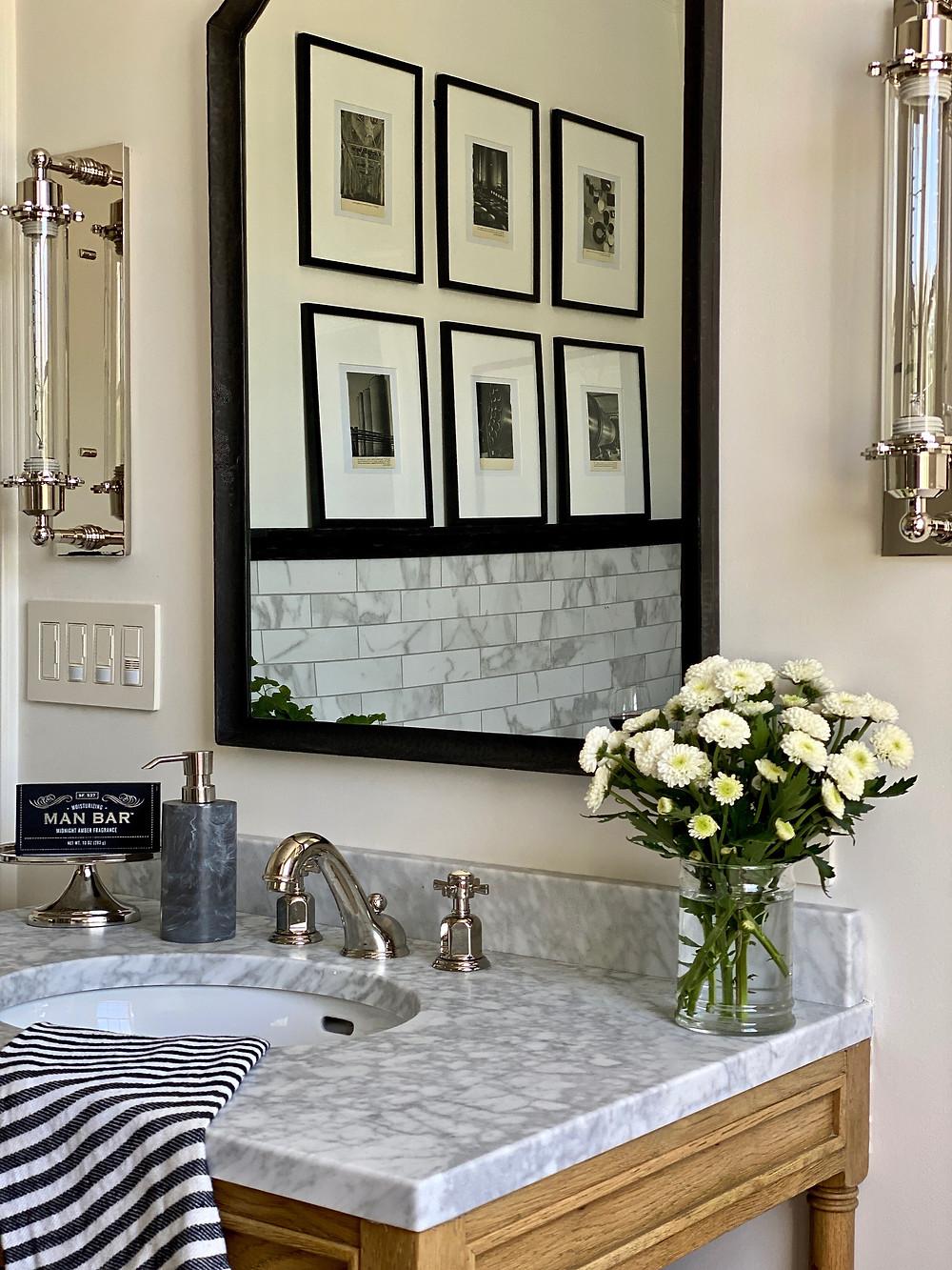 Spa bath, stainless steel bathtub, black and white bathrooms, guest retreat, bathroom design, RH, man bar,
