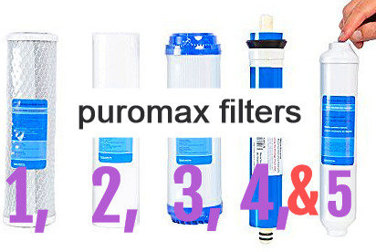 Puromax Reverse Osmosis Filter Replacement - Set Of 5