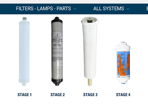 HERO II Reverse Osmosis System Parts Filters Replacement Cartridges - set of3
