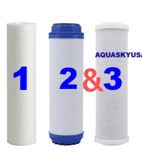 Aquasky rot-4 Original Organic Set Of 3 Replacement Filters