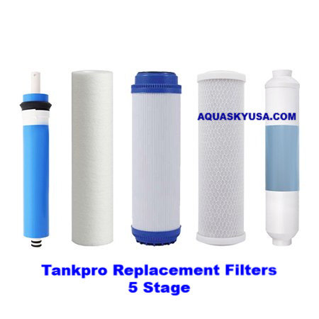 Tankpro replacement filters set Of 5 cartridges