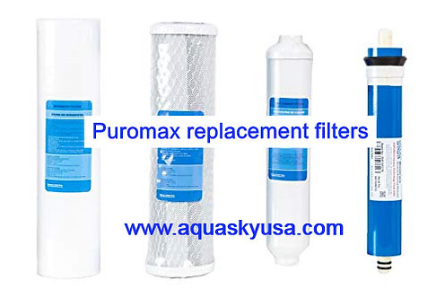 Puromax Reverse Osmosis Filter Replacement - Set Of 4