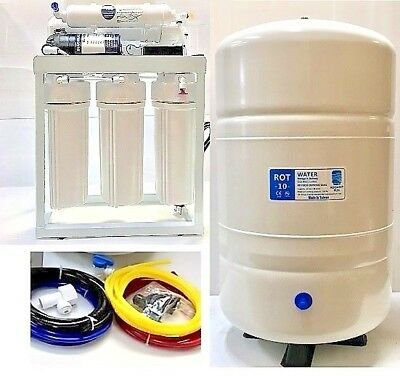 Light Commercial Reverse Osmosis Water System 200 GPD With Booster Pump And Tank