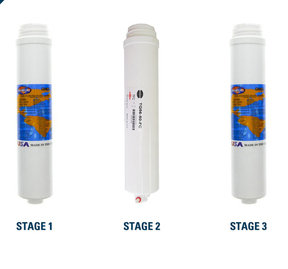 DuPure reverse osmosis set - 3 replacement filters