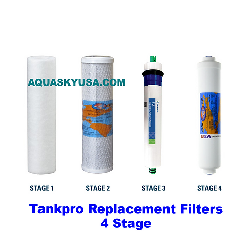 Tankpro Replacement Filters Set Of 4 cartridges