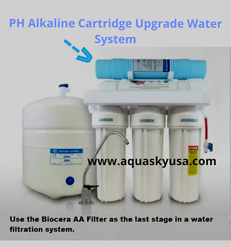 Biocera AA Antioxidant Alkaline Water Filter Cartridge Increasing PH level in RO