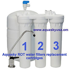 aquasky ROT 3, 4, 5 & WATER FILTERS REPL