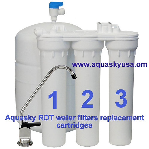 Aquasky rot 3,4,5 & 6 - CTA-3  Systemes - Set Of 3 Filters Replacement
