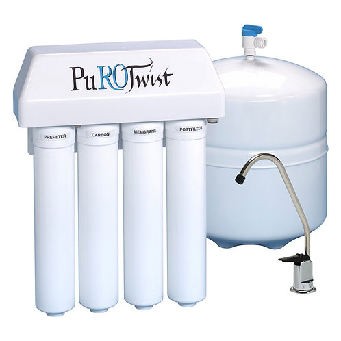 PuROTwist 4-Stage 50 GPD TFC Set Of 4 filters cartridges - With RO membrane