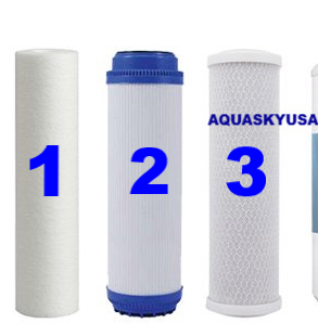 PA-E Reverse Osmosis Replacement Filters - Set Of 3 Cartridges