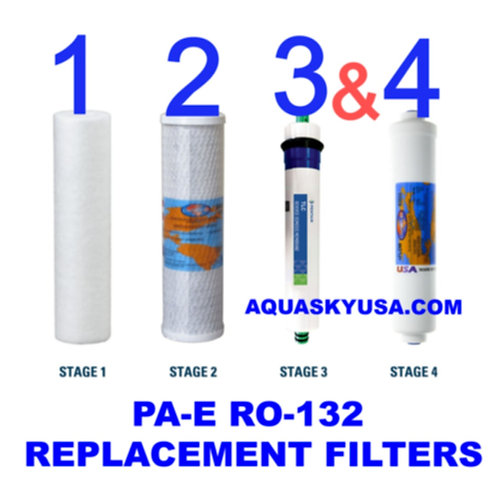 pa-e ro-132 replacement filters Cartridges And Membrane Set Of 4
