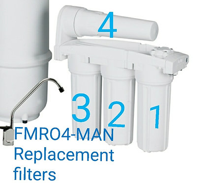 FMRO4-MAN Replacement Filters - Set Of 4 Filters Cartridges