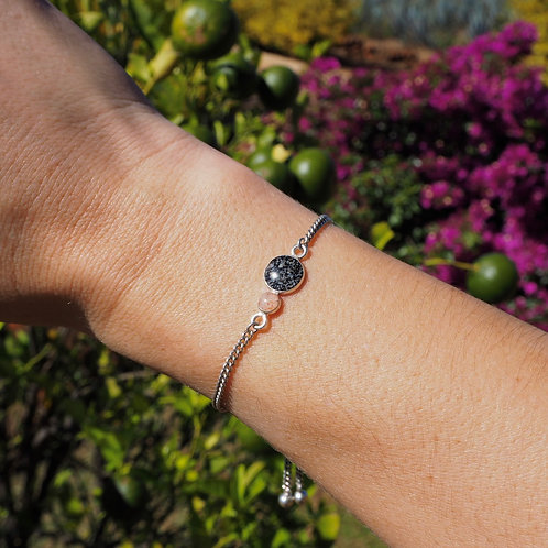 Silver bracelet with chain DOUBLE DROP